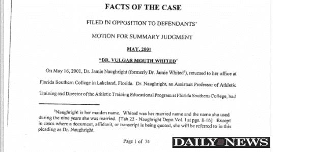 Documentos sobre caso de Peyton Manning - Reprodução / NY Daily News - Reprodução / NY Daily News