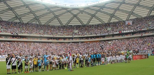 Arena Amazônia, em Manaus, foi palco de Vasco x Fluminense no domingo retrasado
