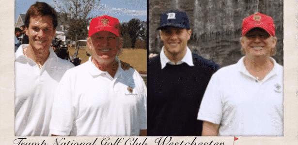 Trumop Brady golfe - Reprodução/Twitter - Reprodução/Twitter