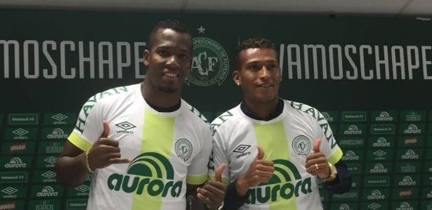 Penilla (à esquerda) e Guerrero (à direita) agora integram quarteto de sul-americanos à serviço da Chape; contratações são tendência do trabalho de Rui Costa no clube