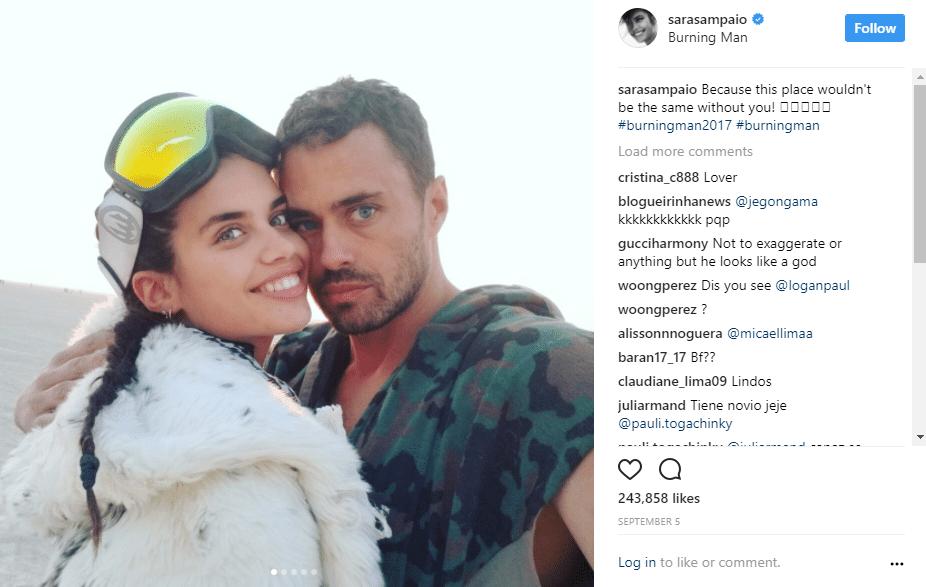 Sara Sampaio e o namorado, o milionário britânico Oliver Ripley