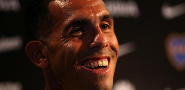 O ídolo Tevez foi apresentado como reforço do Boca Juniors nesta terça-feira