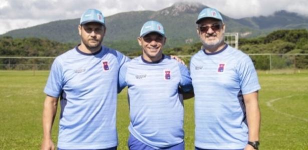 Marcos Seixas, Fabinho Santos e Rogério Micale, a nova comissão técnica do Paraná