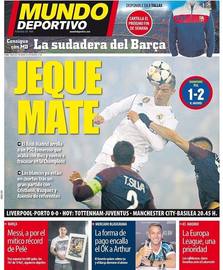 Mundo Deportivo: O Real Madrid pisoteia em um PSG medroso que acaba com 10 e volta a fracassar na Liga dos Campeões