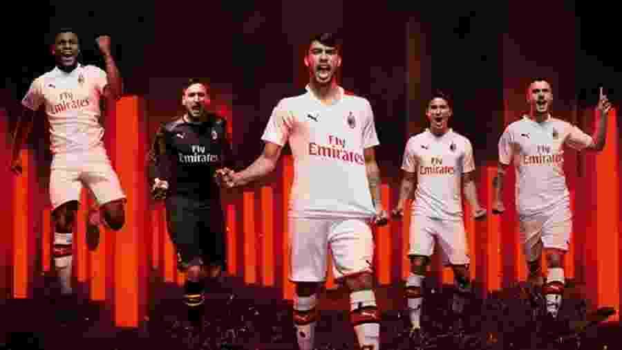 Lançamento do novo uniforme do Milan com Lucas Paquetá - Divulgação/Milan