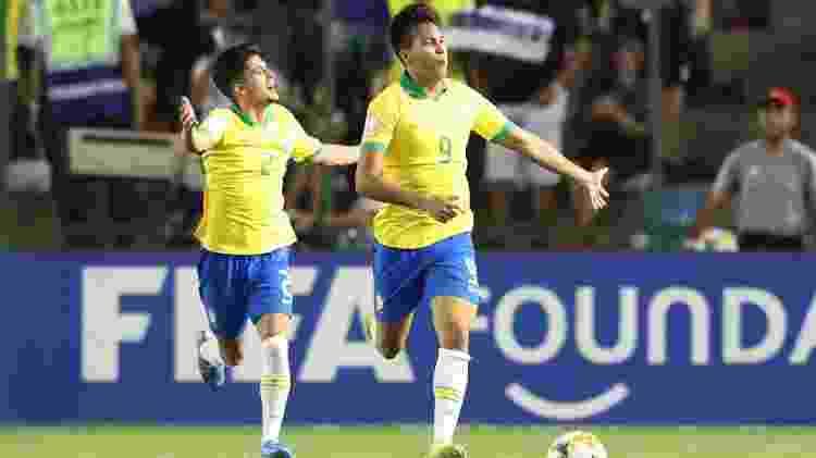 Kaio Jorge comemora gol pela seleção brasileira no Mundial sub-17 - SERGIO MORAES/REUTERS - SERGIO MORAES/REUTERS