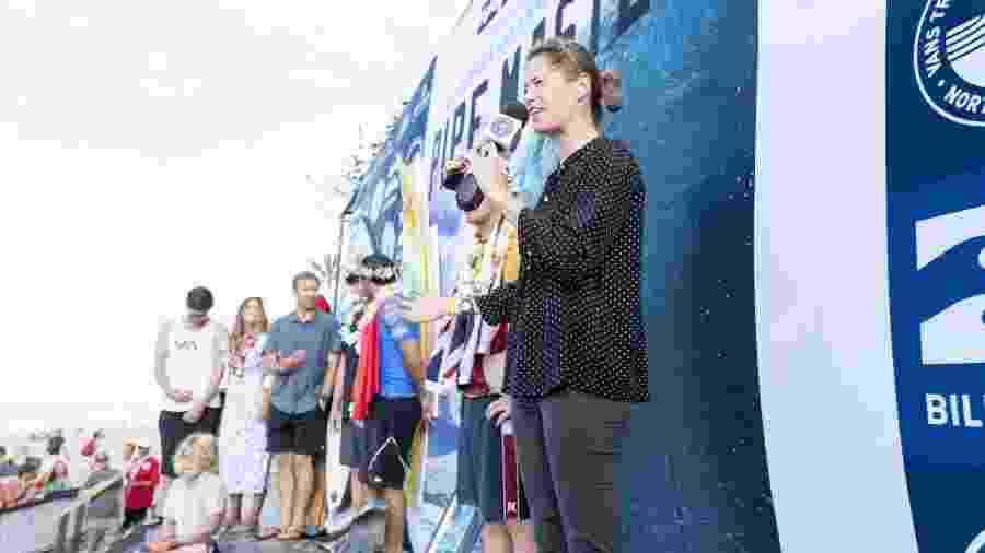 Sophie Goldschmidt, que esteve à frente da liga mundial de surfe entre 2017 e 2020, dá lugar a Erik Logan - Kelly Cestari/WSL