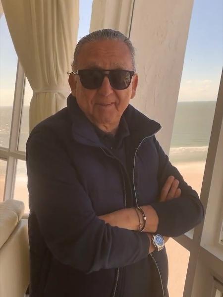 """Galvão Bueno volta das férias direto para o """"Bem Amigos!"""" - Reprodução/Instagram"""
