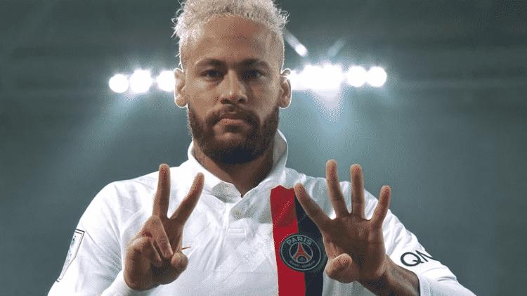 Neymar faz homenagem a Kobe - reprodução/DAZN