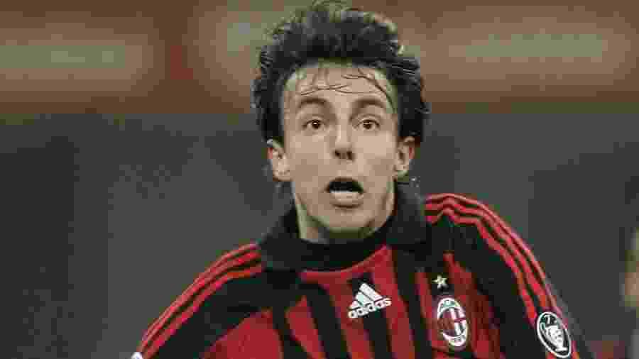 Digão, irmão de Kaká, em uma de suas raras aparições com a camisa do Milan - Reprodução