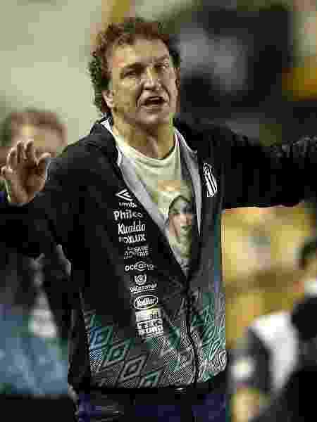 Cuca na vitória sobre o Grêmio que garantiu classificação do Santos na Libertadores - Alexandre Schneider/Getty Images