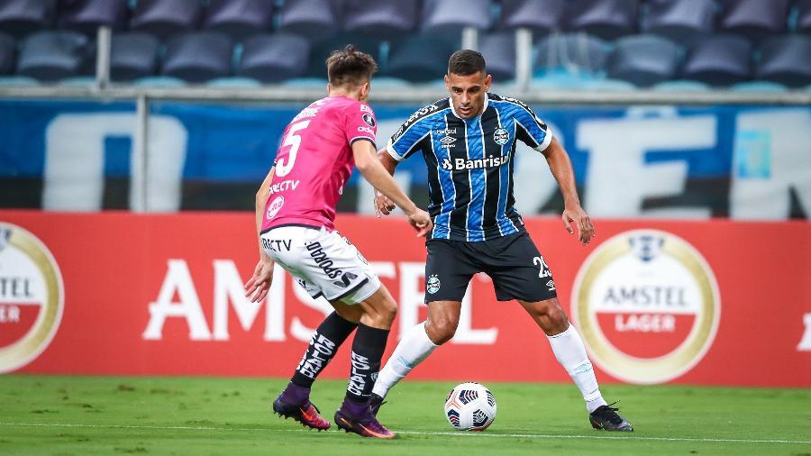 Diego Souza durante a partida entre Grêmio e Independiente Del Valle, pela Libertadores - Lucas Uebel | Grêmio FBPA