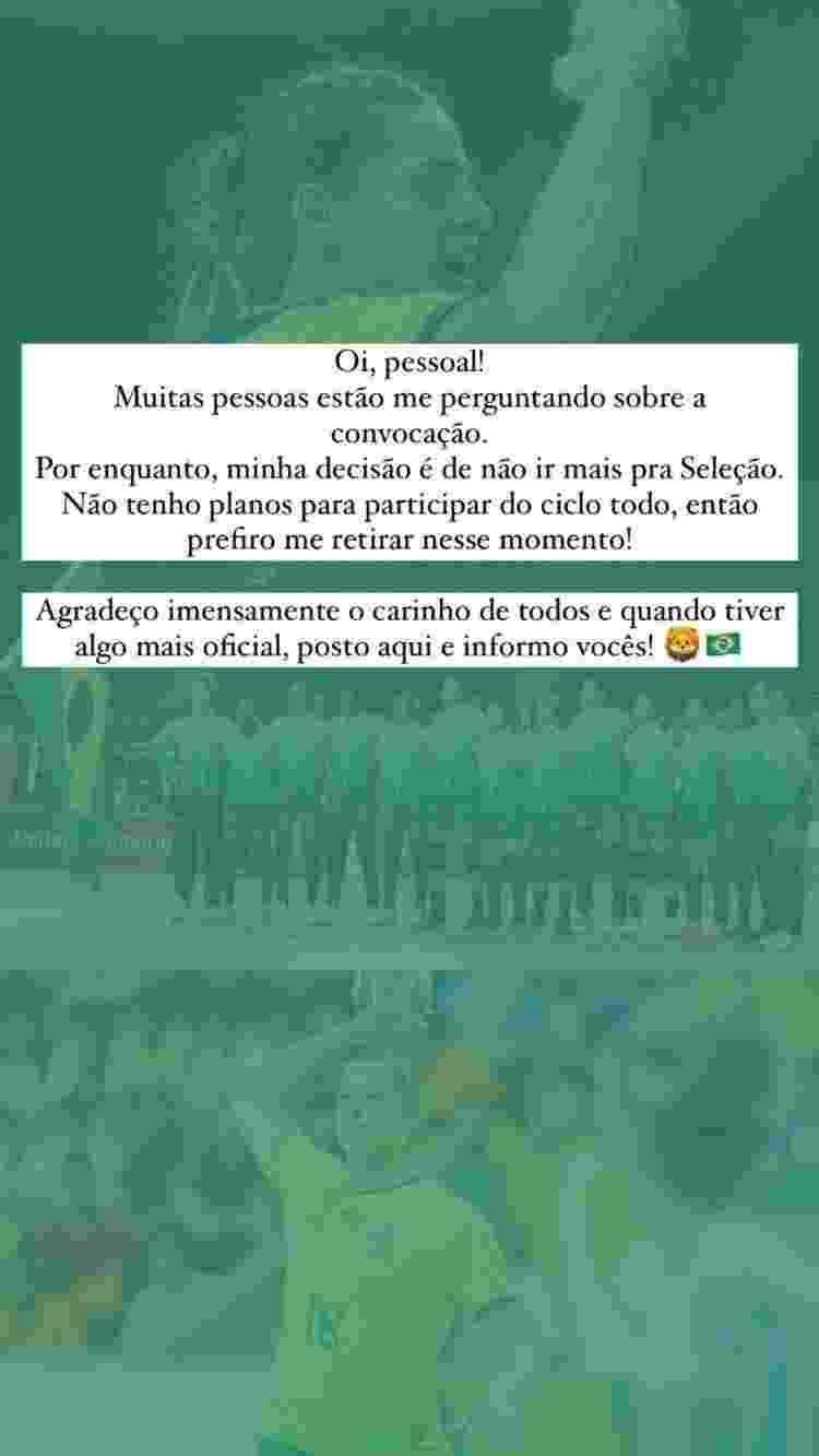 Duda Amorim fala sobre ausência na convocação da seleção brasileira de handebol - Do UOL, em São Paulo - Do UOL, em São Paulo