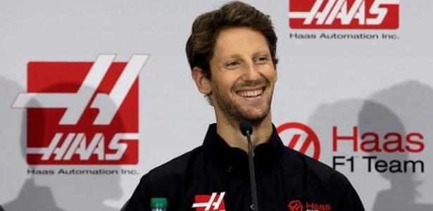 Grosjean será o encarregado de estrear o carro da Haas nos testes - Haas F1/Divulgação