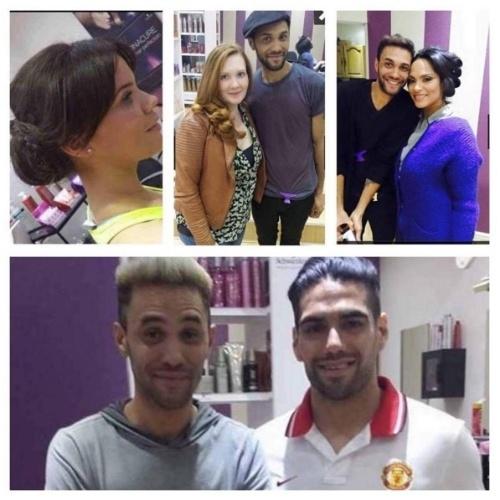Edmar Mascarenhas, cabeleireiro brasileiro, publica foto com Falcao Garcia, seu cliente