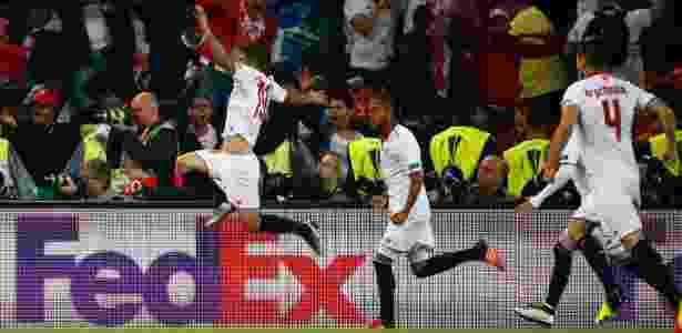 Gameiro comemora gol pelo Sevilla - Ruben Sprich/Reuters - Ruben Sprich/Reuters