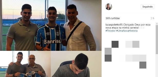 Lucas Costa, 22 anos, deixou o Santos e assinou com o Grêmio até dezembro