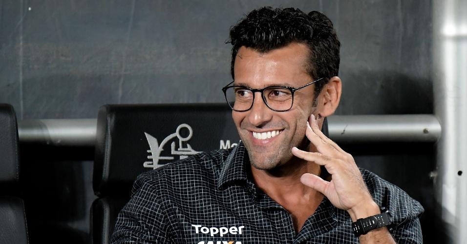 O técnico Alberto Valentim, do Botafogo