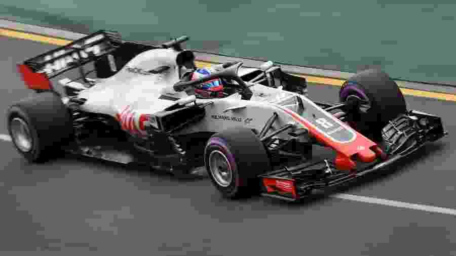 Romain Grosjean pilota a Haas no circuito de Melbourne - AFP