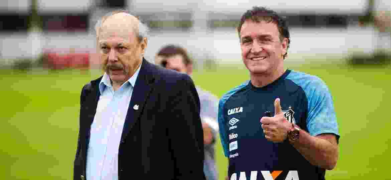 Presidente Peres está satisfeito com o trabalho de Cuca e já vê técnico acertar o time - Ivan Storti/SantosFC