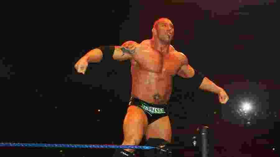 Dave Bautista, durante evento do WWE em 2008 - Gaye Gerard/Getty Images