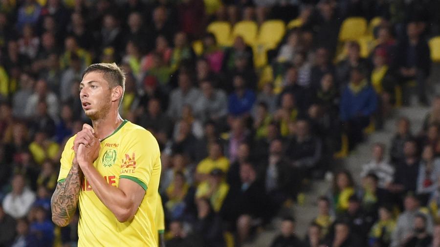 Emiliano Sala, durante uma partida pelo Nantes - SEBASTIEN SALOM GOMIS / AFP