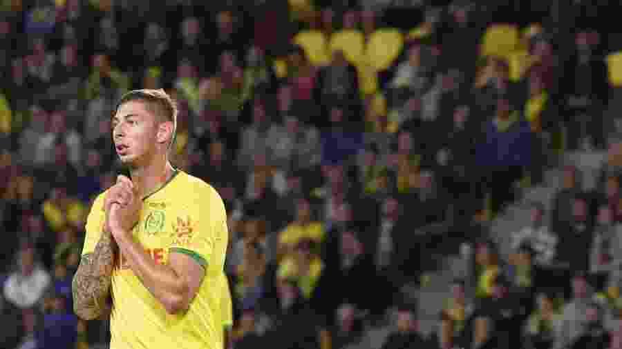 Emiliano Sala, durante partida pelo Nantes - SEBASTIEN SALOM GOMIS / AFP