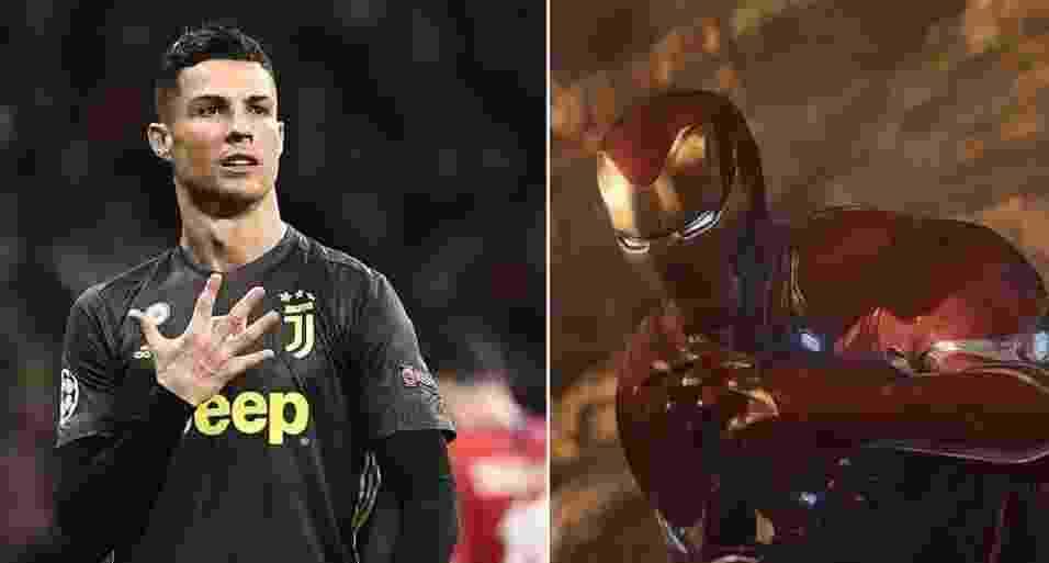 Cristiano Ronaldo / Homem de Ferro - PIERRE-PHILIPPE MARCOU / AFP/Divulgação