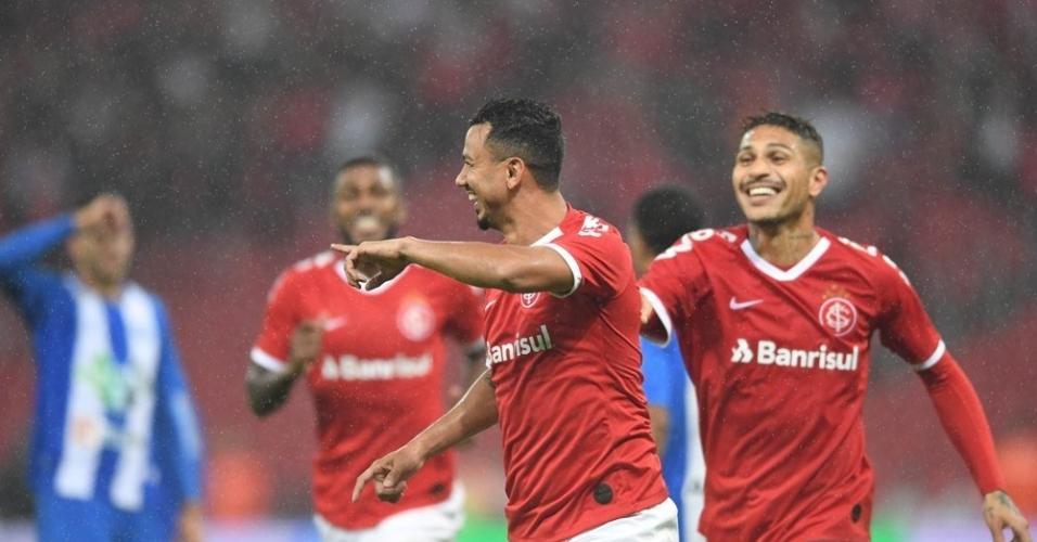 Rodrigo Lindoso comemora gol do Inter contra o Paysandu