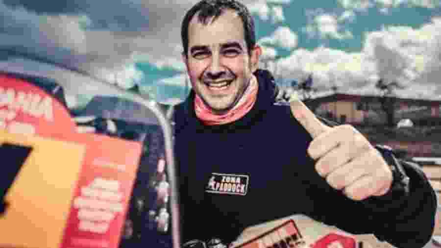 Alberto Martínez tinha 42 anos e se acidentou no começo da etapa de hoje do Hispania Rally, em Granada - Hispania Rally/Divulgação