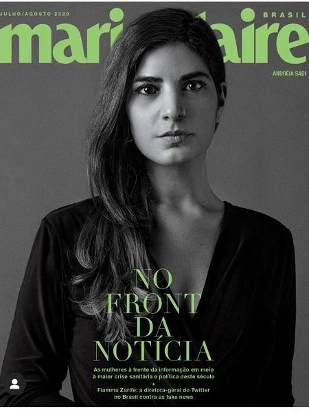 Andréia Sadi é um dos destaques da revista Marie Claire - Reprodução/Marie Claire