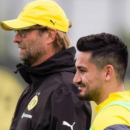 Gundogan e Klopp, no Borussia Dortmund - Divulgação/Borussia Dortmund