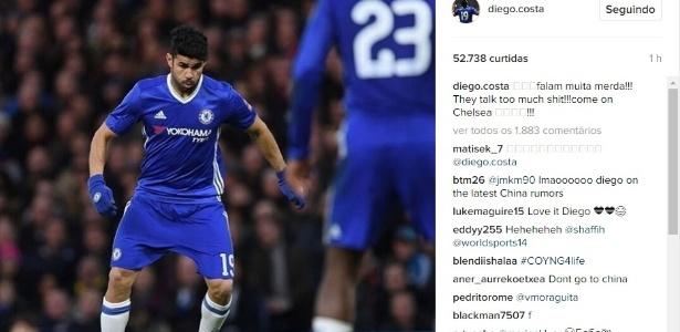 Diego Costa desabafa no Instagram