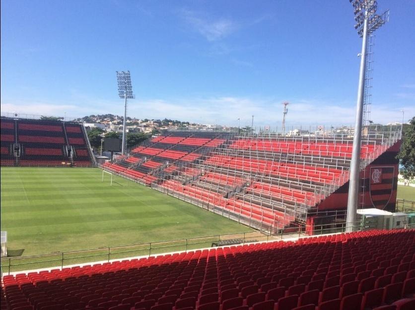 A Arena da Ilha está na reta final para ser inaugurada pelo Flamengo