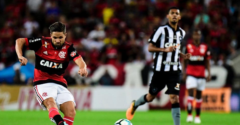 Diego, do Flamengo, no estadio do Maracanã pela Copa do Brasil
