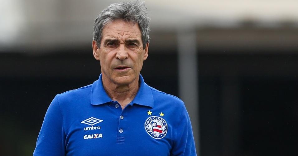 Paulo César Carpegiani, técnico do Bahia, durante jogo contra o São Paulo