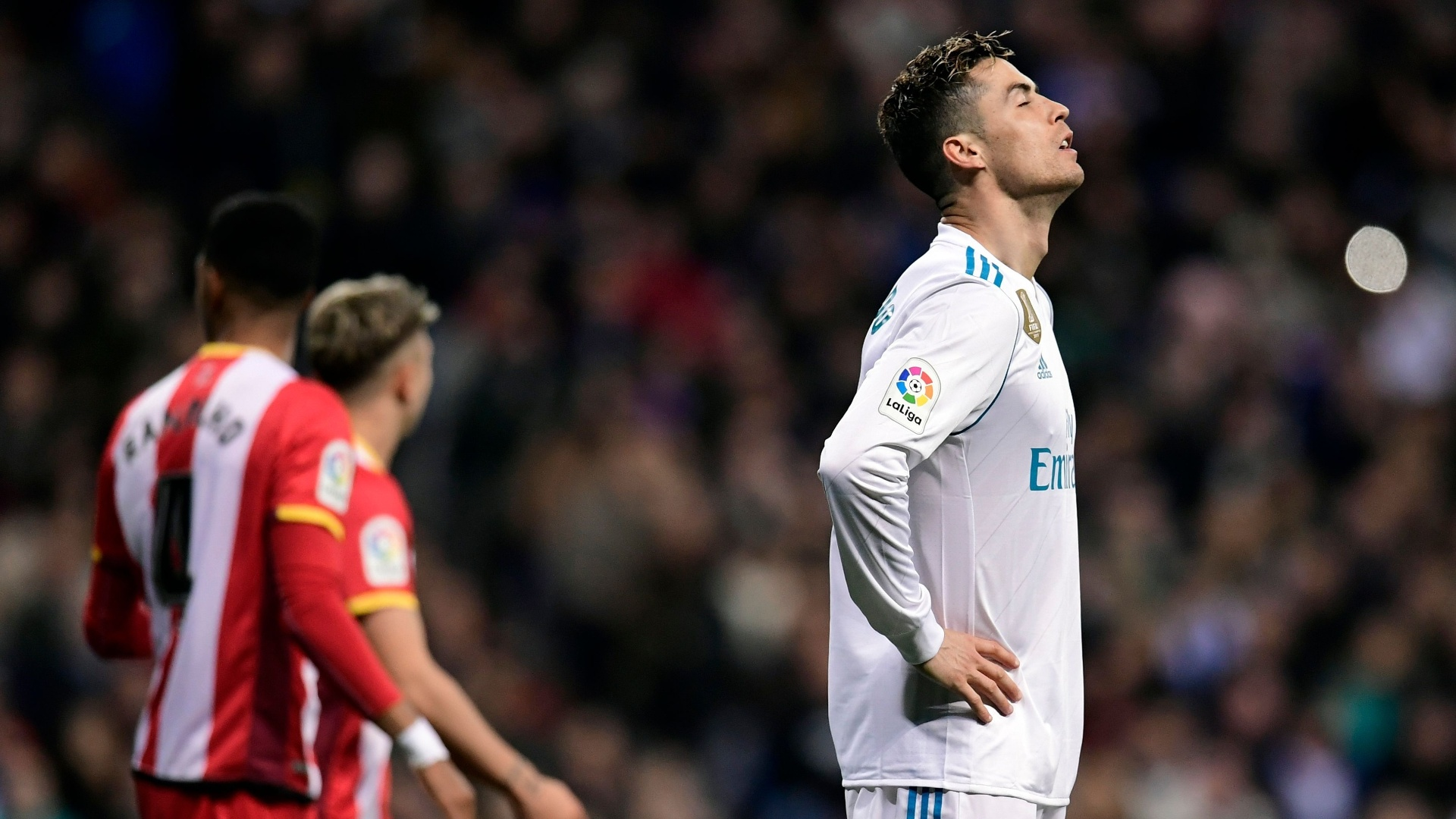 Cristiano Ronaldo lamenta chance perdida pelo Real contra o Girona
