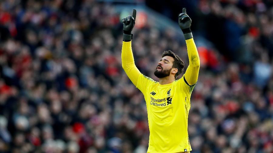 Alisson, do Liverpool, foi elogiado por Manuel Neuer - Jason Cairnduff/Reuters