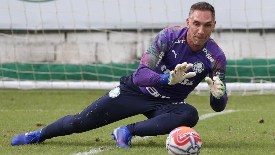 Fernando Prass em treino do Palmeiras - Cesar Greco/Ag. Palmeiras