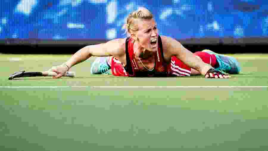 Alex Danson foi campeã olímpica de hóquei sobre grama na Olimpíada do Rio 2016 - AFP PHOTO / ANP / Remko de Waal