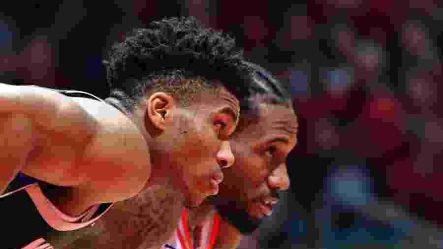 Kawhi Leonard e Antetokounmpo treinaram com Kobe Bryant antes da atual temporada  - Jesse D. Garrabrant/NBAE via Getty Images