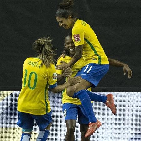 Marta, Cristiane e Formiga estão entre as melhores sul-americanas da década - Nicholas Kamm/AFP