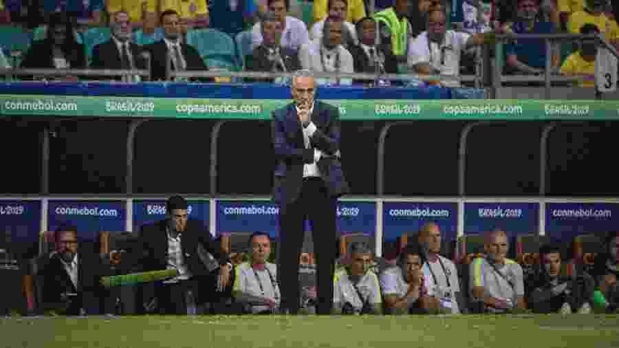 Tite, durante partida entre Brasil e Venezuela - Pedro Martins / MoWA Press