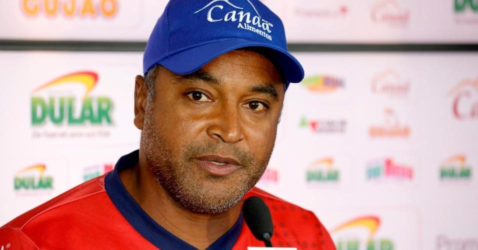 Técnico Roger Machado, do Bahia, durante entrevista coletiva