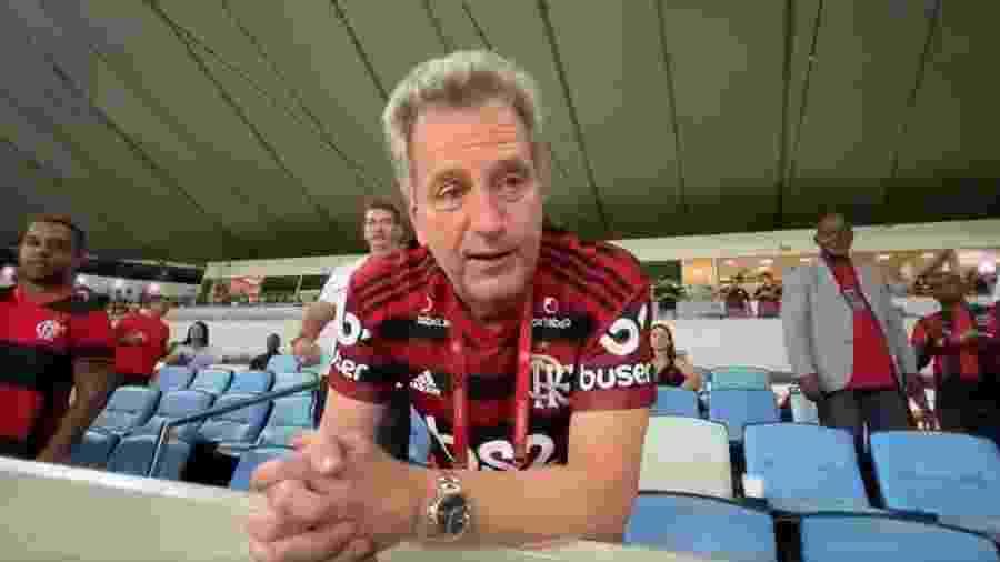 Rodolfo Landim, presidente do Flamengo, afirmou que clube está forte para combater tempos de crise - Reprodução Canal Paparazzo Rubro-Negro