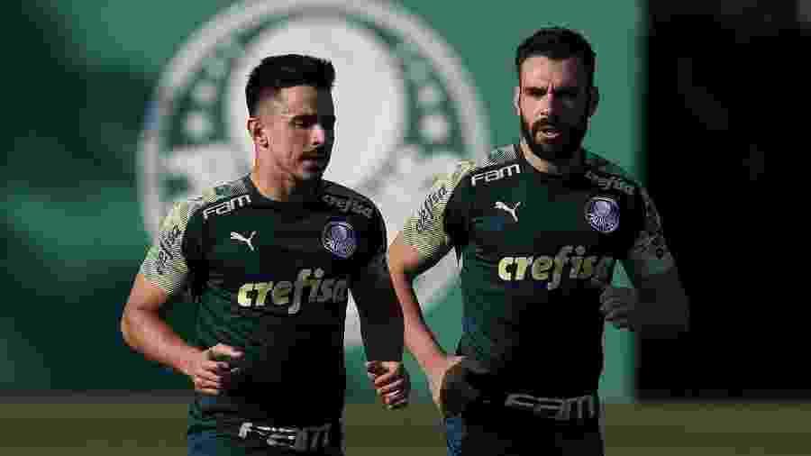 Willian e Bruno Henrique durante treino do Palmeiras - Cesar Greco/Ag. Palmeiras