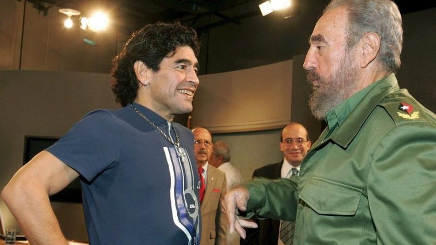 Maradona foi amigo e apoiador do líder cubano Fidel Castro até a morte - EPA