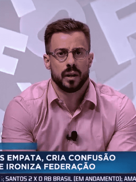 Felippe Facincani, comentarista dos canais ESPN - Reprodução