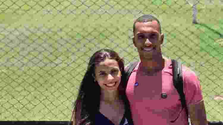 Lucas Braga com a esposa, Jeniffer, em La Bombonera - Reprodução/Instagram - Reprodução/Instagram