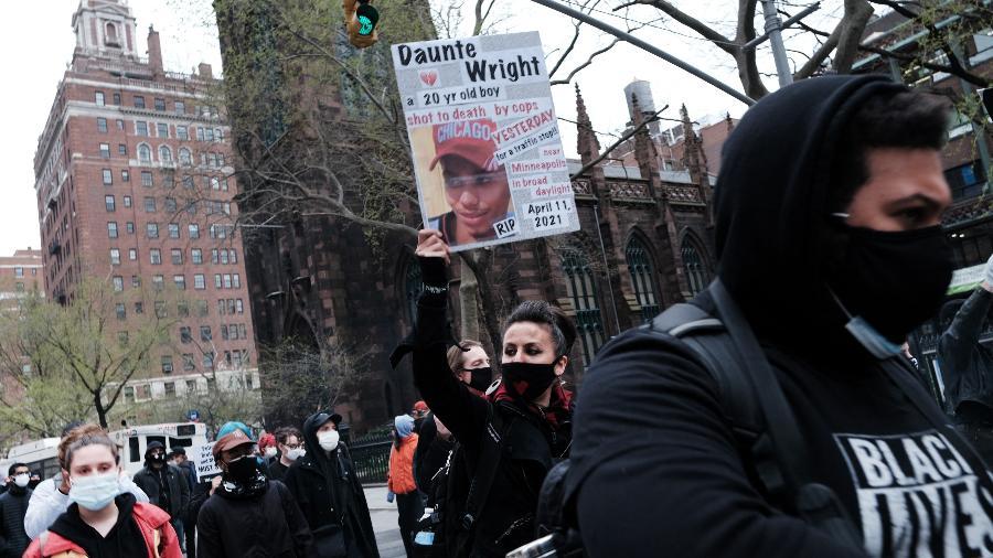 Protestos em Minneapolis após a morte de Daunte Wright - SPENCER PLATT/Getty Images via AFP